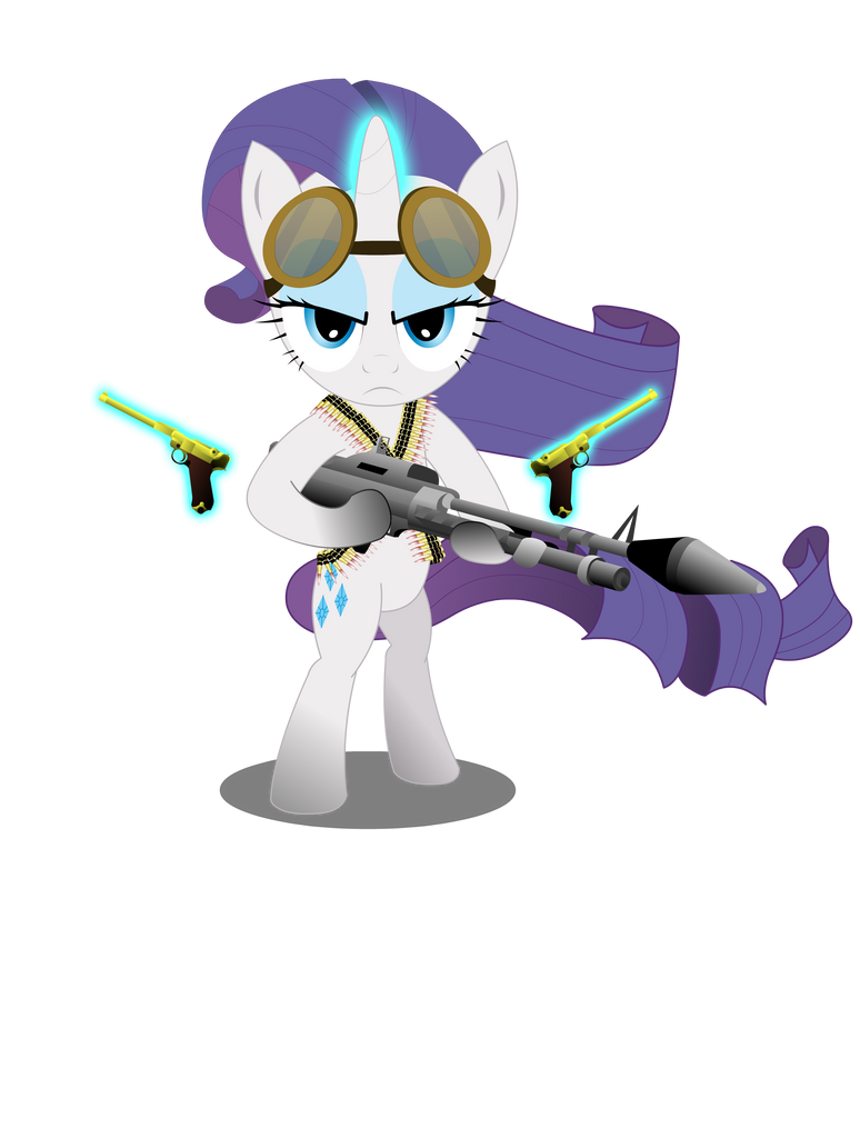 Gunner Rarity (Shirt design) by GoneIn10Seconds