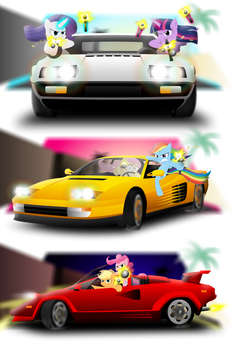 Ponies, cars, and pop-up headlights