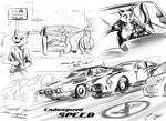 'Endangered Speed' Concept sketches