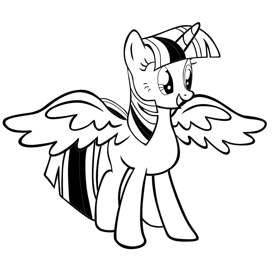 Coloring Pages Of Princess Twilight Sparkle : Princess twilight sparkle base by bubbleberry on deviantart