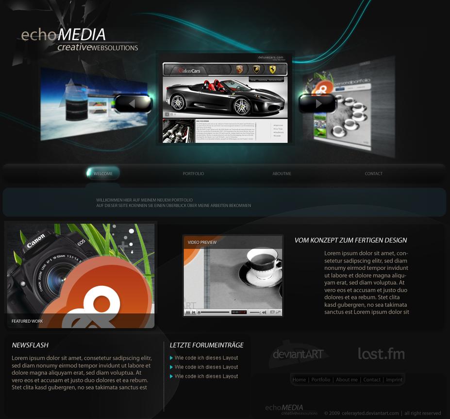 EchoMedia effect Portfolio by celerayted