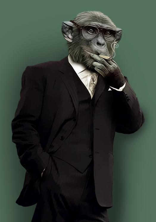 smoking monkey business by degeme on DeviantArt