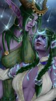 Tyrande and Ysera from World of Warcraft