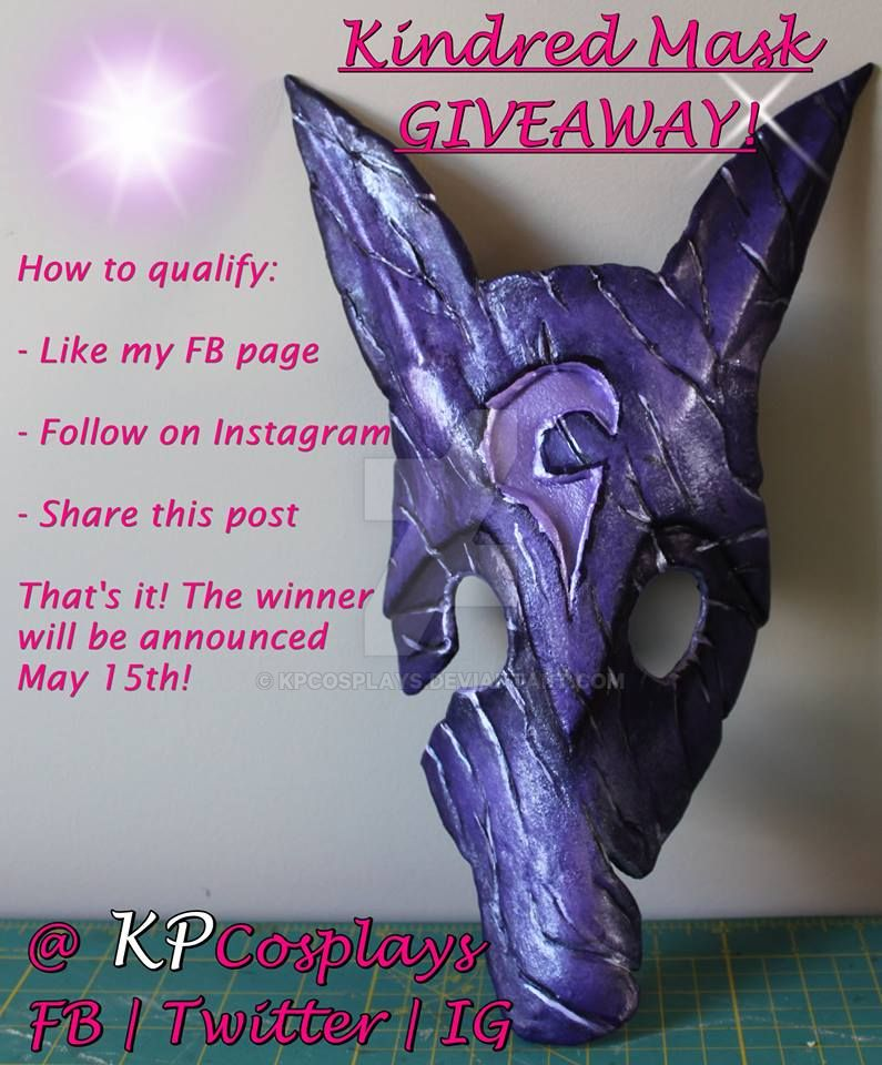 Mask GIVEAWAY! by KPCosplays