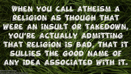 Atheism is a Religion