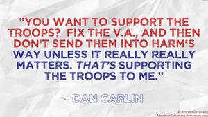 You Want to Support the Troops?