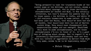 Peter Singer on Pacifism