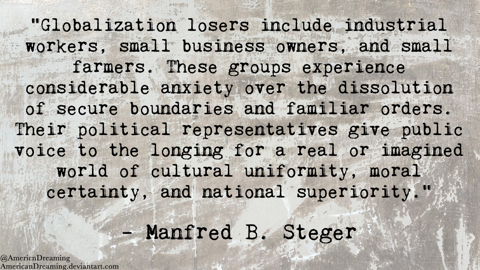 Globalization Losers by AmericanDreaming