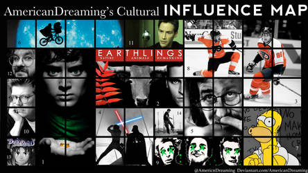 Cultural Influence Map by AmericanDreaming