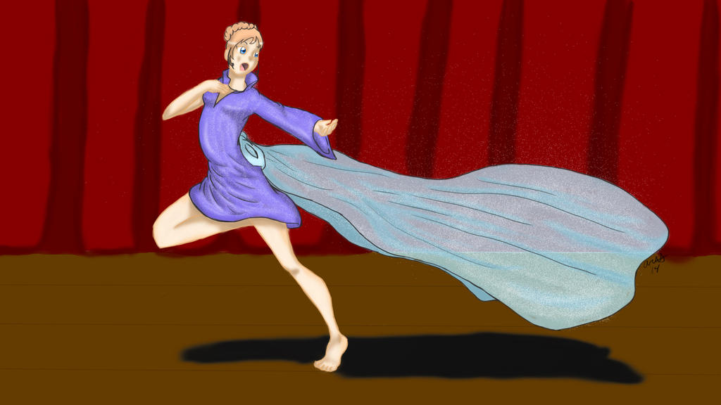 Lady dancing by SugarBerry63
