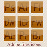 Wooden Adobe software icons