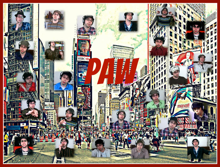 Paw Poster by pinkrangerwannabe