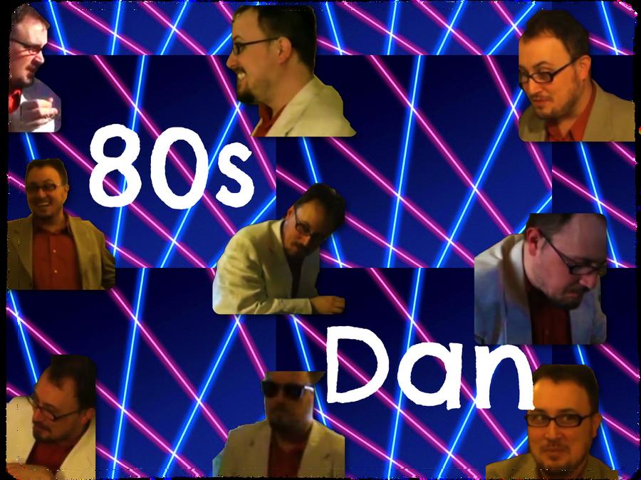 80s Dan Poster by pinkrangerwannabe