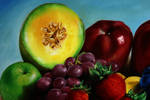 Fruits Oil Painting detail.