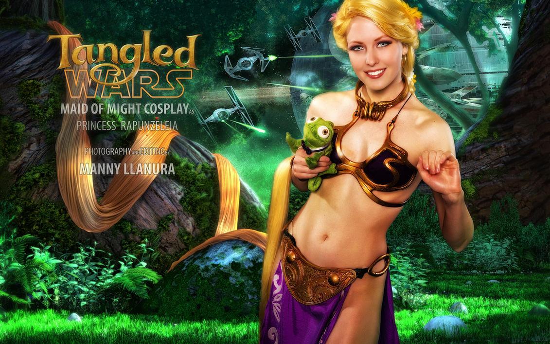 Tangled Wars - Slave Leia Rapunzel by wbmstr