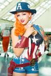Captain America Cowgirl Stephanie Castro Cosplay