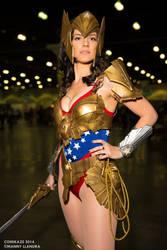Comikaze 2014 Wonderwoman VertVixen Cosplay