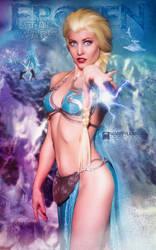 Slave Leia Elsa Mashup - Maid of Might Cosplay