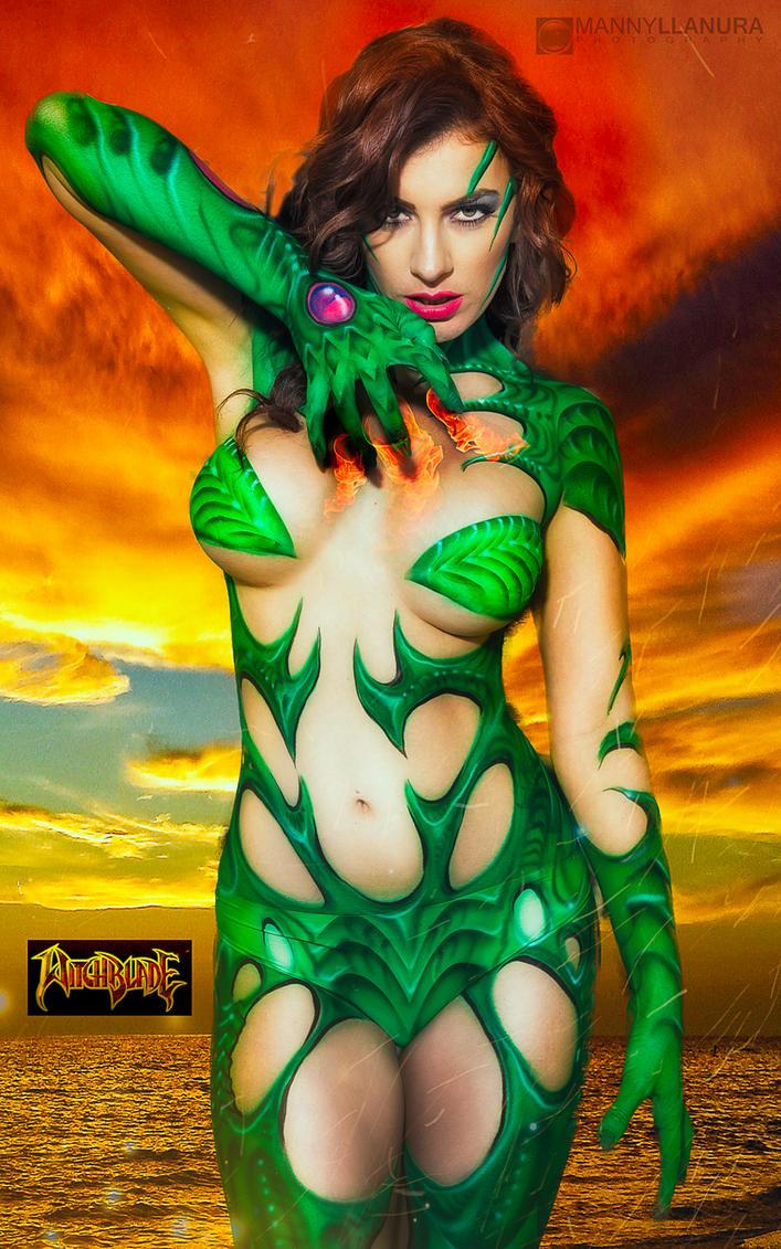 Witchblade Bodypaint - Elizabeth Michelle by wbmstr