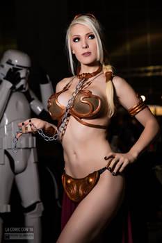 Kristen Hughey as Slave Leia LA Comic Con 2016