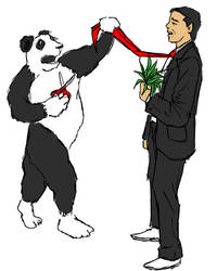 Panda VS Man
