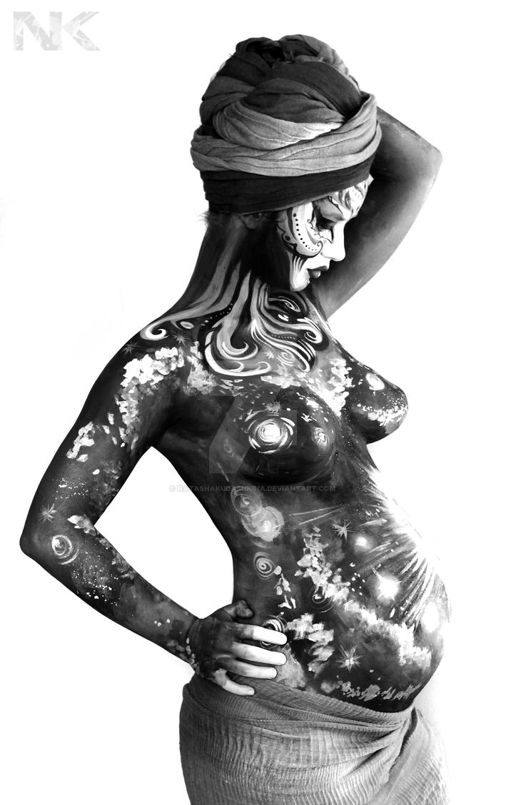 Maternity Body Paint by NatashaKudashkina