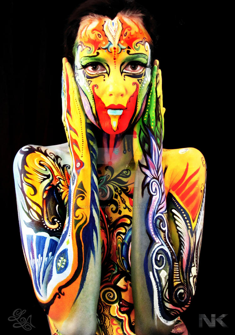 Body Painting Collaboration by NatashaKudashkina
