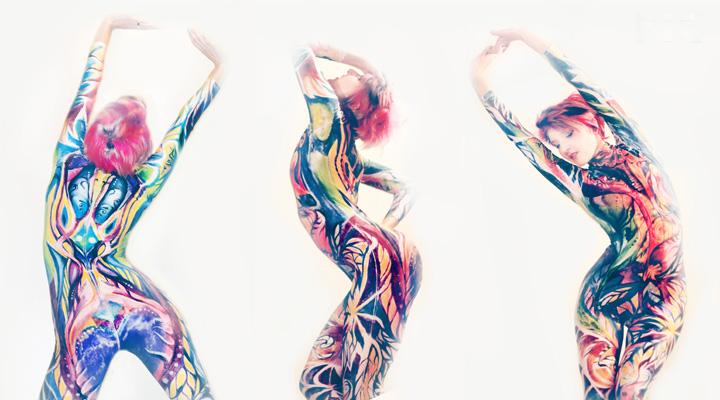 Custom painted Body suit by NatashaKudashkina