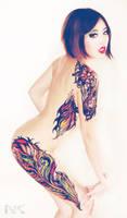 Body Painted Tattoo Design.