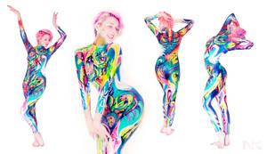 Custom painted body suit