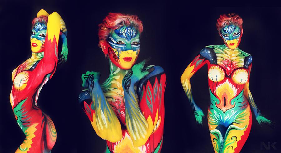 Body Painting NK. Cosmic Light Force of Love by NatashaKudashkina