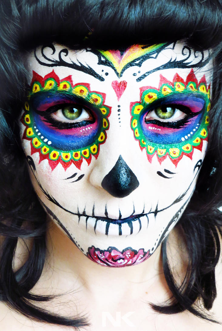 Sugar skull makeup face paint tutorial by natashakudashkina on sugar skull makeup face paint tutorial by natashakudashkina baditri Image collections