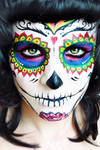 Sugar Skull Makeup face paint Tutorial