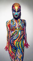 Life performance Body painting