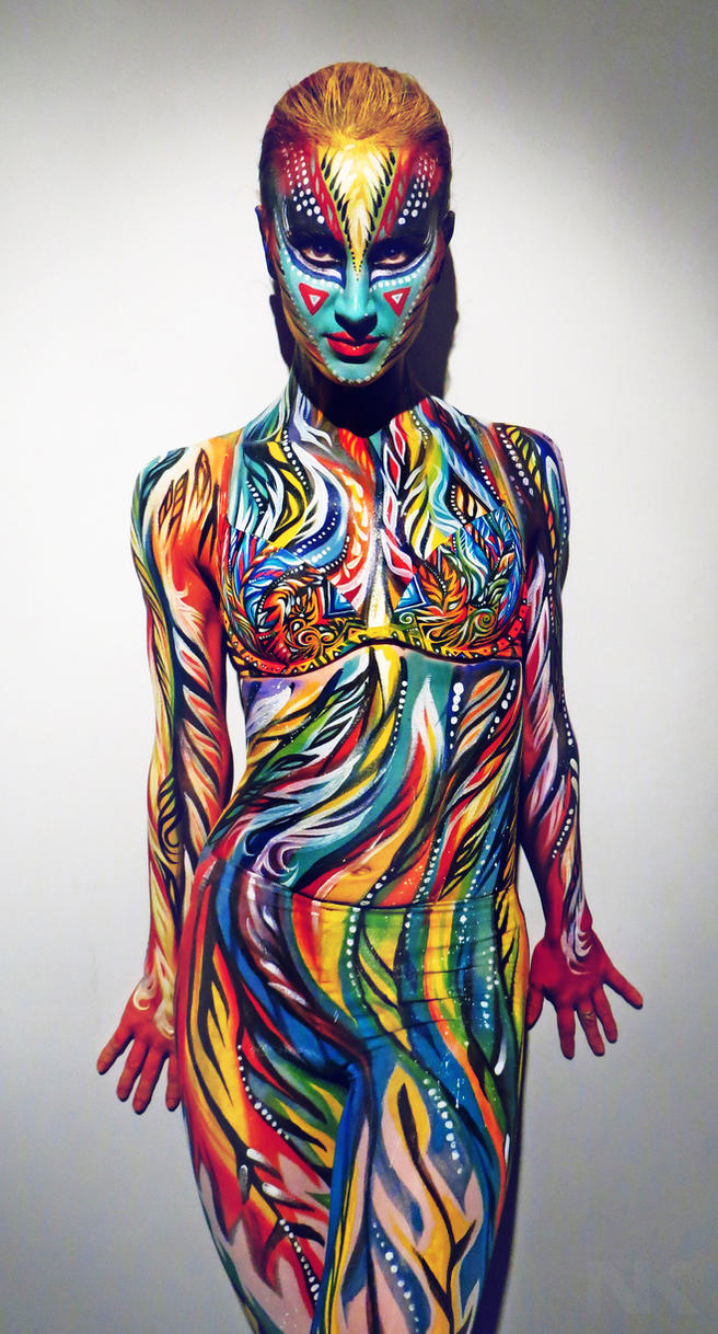 Life performance Body painting by NatashaKudashkina
