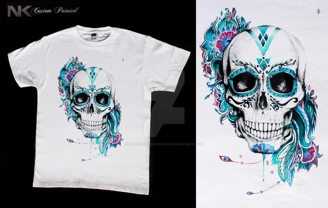 NK Skull on a shirt by NatashaKudashkina on DeviantArt