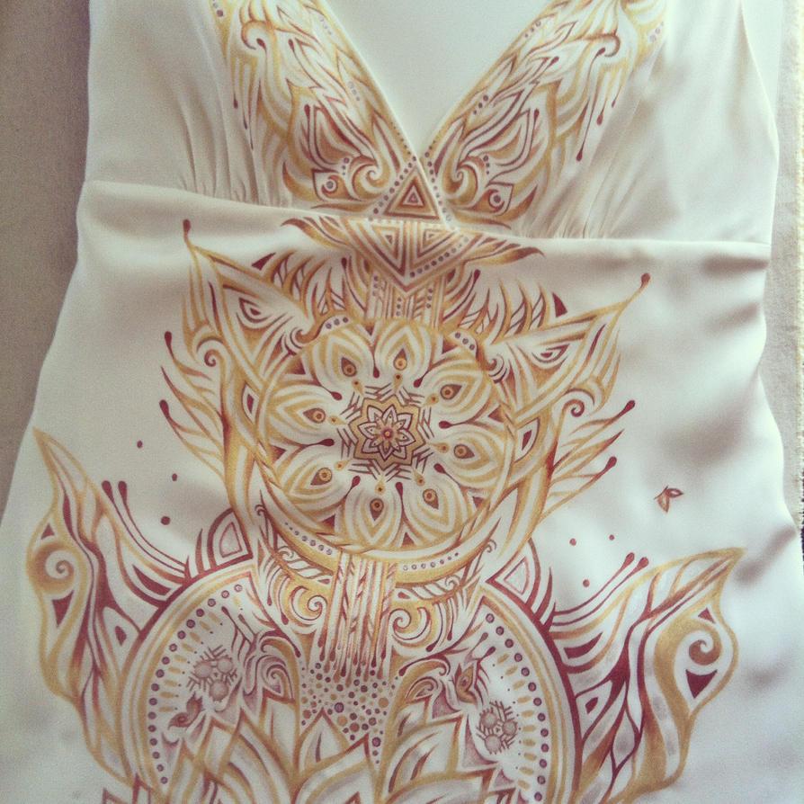 Custom painted dress by NatashaKudashkina