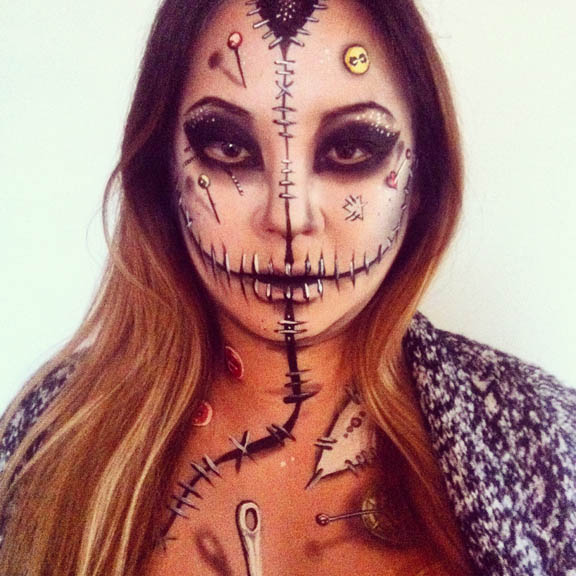 Voodoo Doll makeup by NatashaKudashkina