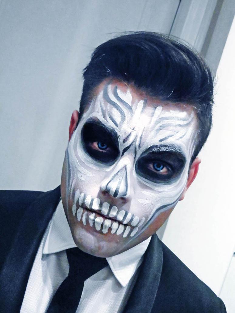 White Skull makeup by NatashaKudashkina