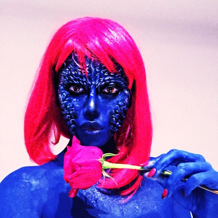 Mistique Xmen body art by NatashaKudashkina