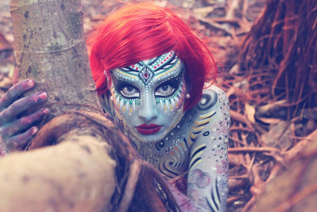 Mermaid makeup/bodyart NK by NatashaKudashkina