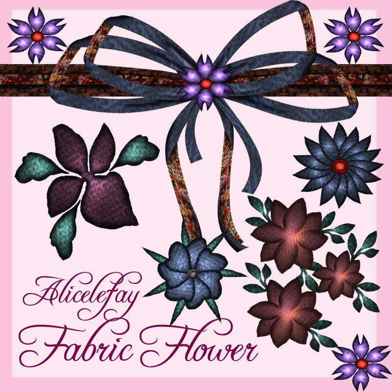 Alicelefay Fabric Flower by Elf-Spirit