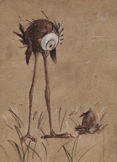 Sepia Tallbird by Lenardiya