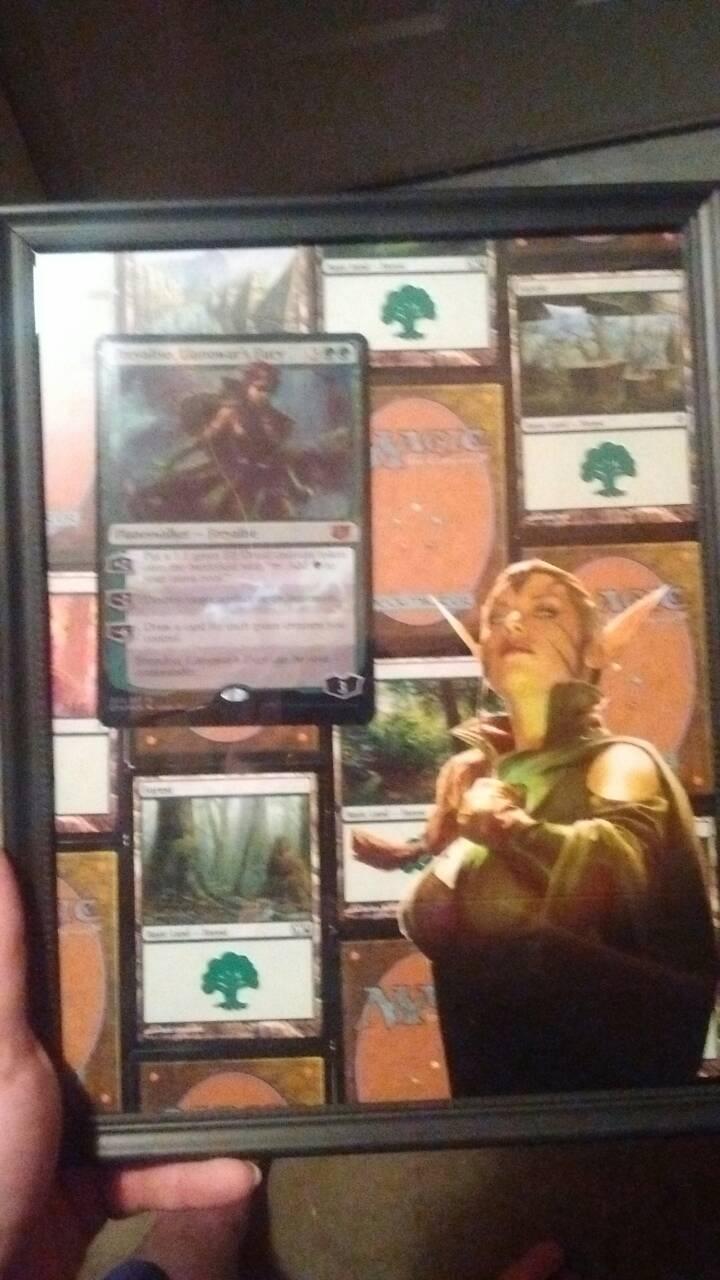 Magic the gathering ShadowBox by TheFelineAlchemist