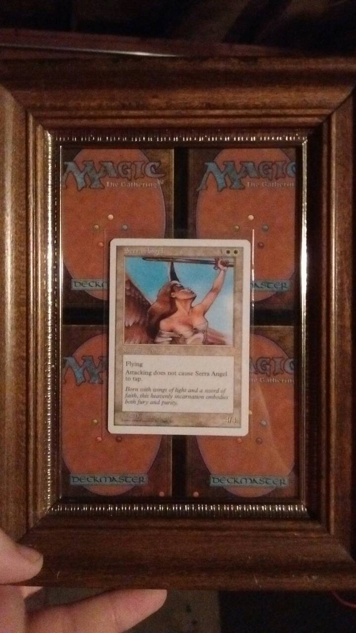 Magic the gathering Serra Angel display  by TheFelineAlchemist