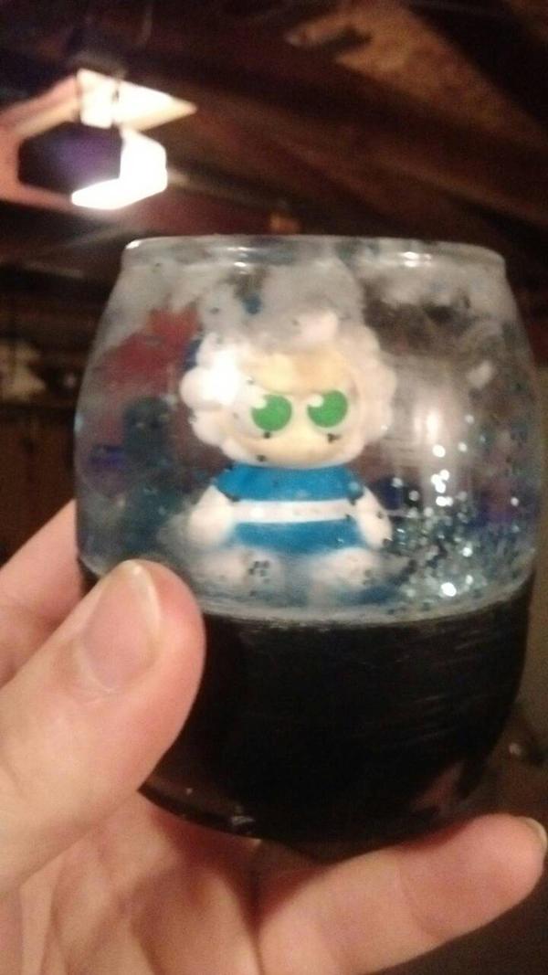 Iceman snow globe by TheFelineAlchemist