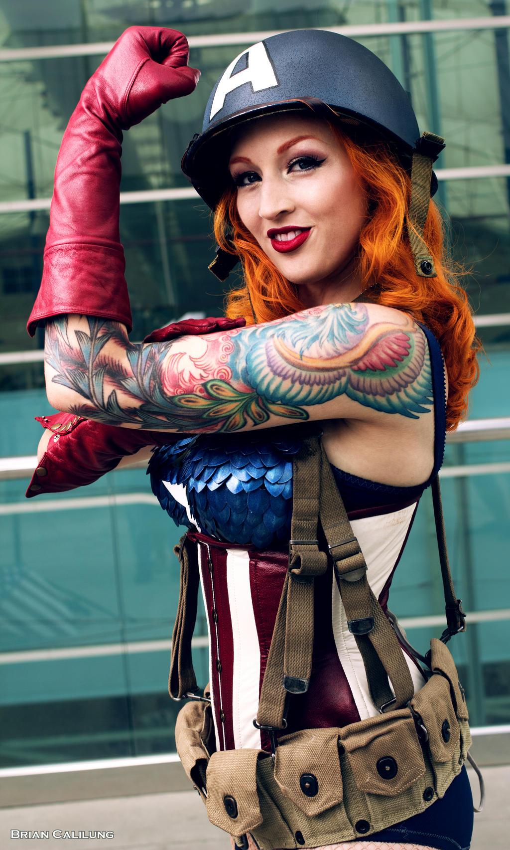 nude female captain america