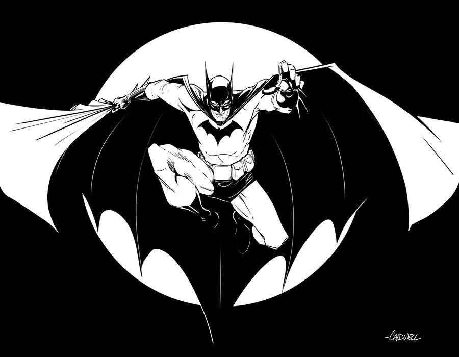 Batman Black And White By Caldwellink On DeviantArt