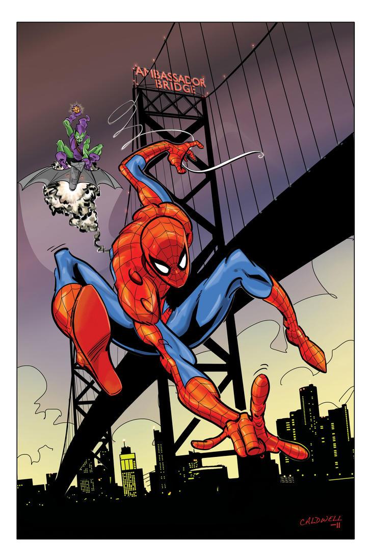 Spider-Man in Detroit by caldwellink