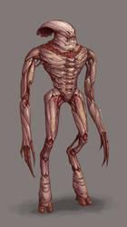 CONCEPT: Anthropomorphic alien by Ancorgil